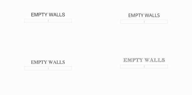 Tipografia - Case Study EmptyWalls